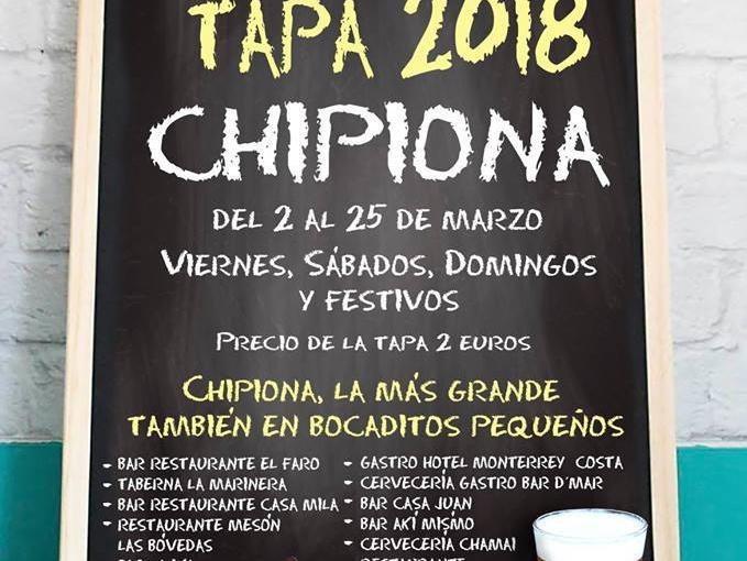 PREMIOS DE LA RUTA DE LA TAPA CHIPIONA2018