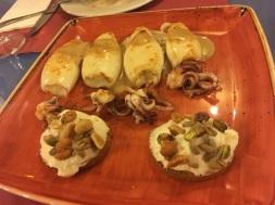 Calamares a la brasa en Salsa de Moscatel