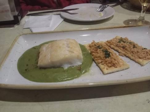 Lomo de Bacalao en Salsa de Ortiguillas.